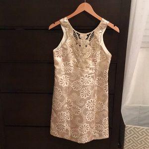 NEVER WORN LILLY PULITZER gold metallic dress